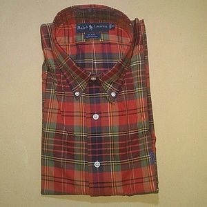 Ralph Lauren Blake Button Down Plaid Shirt, XL